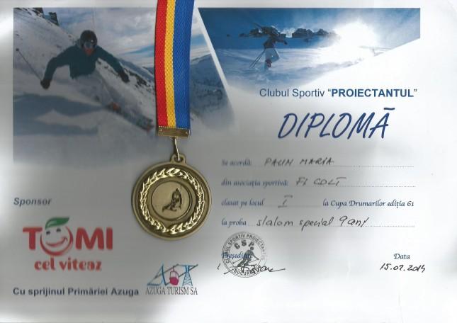 Diploma Mara Cupa Drumarilor