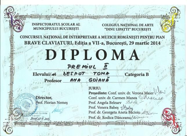 Diploma Toma
