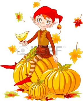 5413641-vector-illustration-of-cute-elf-sitting-on-pumpkin